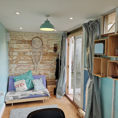 Studio / workshop shed - small eclectic detached studio / workshop shed idea in Other