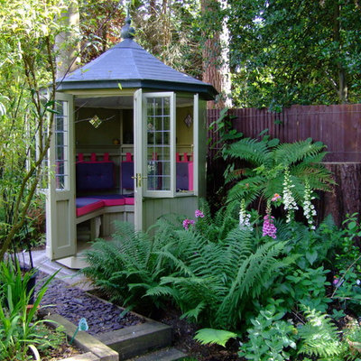 Garden shed - small eclectic detached garden shed idea in Wiltshire