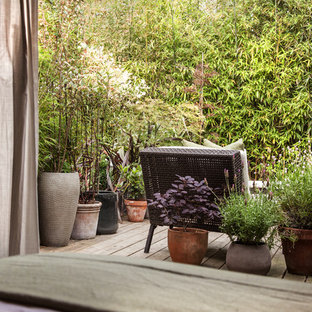 Photo of a contemporary garden shed and building in London.