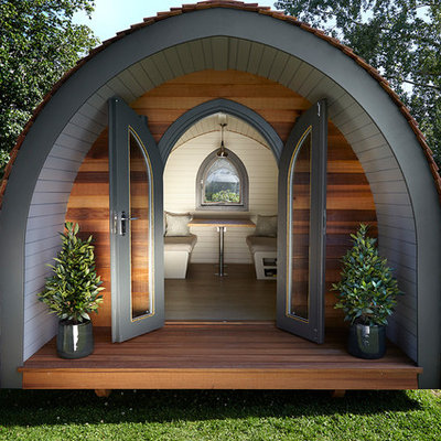 Shed - small eclectic detached shed idea in Other