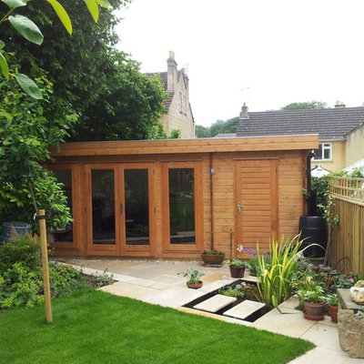 Mid-sized trendy detached studio / workshop shed photo in Wiltshire
