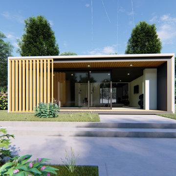 Garden Room Home Gym in Teddington