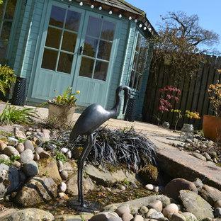 Cette photo montre un abri de jardin scandinave.
