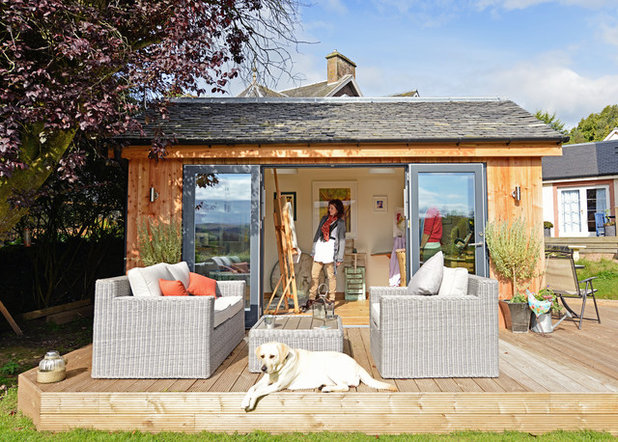 Eclectic Garden Shed and Building by JML Garden Rooms