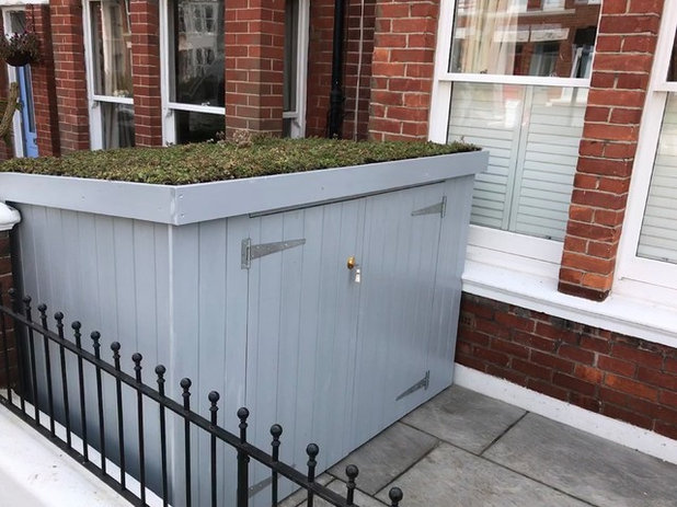 Contemporary Garden Shed and Building by Brighton Bike Sheds