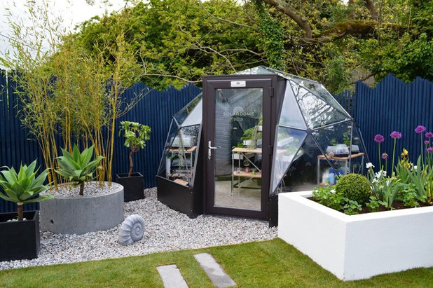 Modern Garden Shed and Building by Solardome Industries Ltd