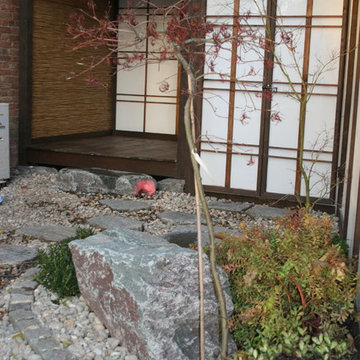 Japanese Style Entrance Garden and Formal Koi Pond