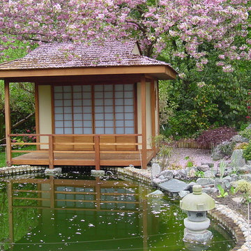 Japanese Teahouse and Koi Pond - Brentwood