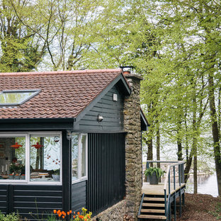 Design ideas for a scandinavian shed and granny flat in London.
