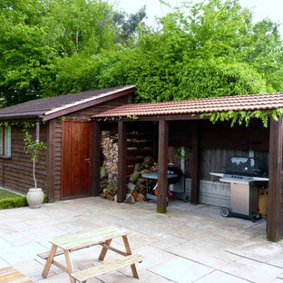 This is an example of a large classic detached garden shed in Essex.