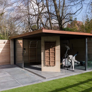 Contemporary garden shed and building in London.