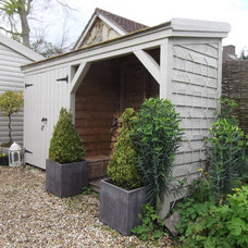 Traditional Garage And Shed by Modern Country Lady