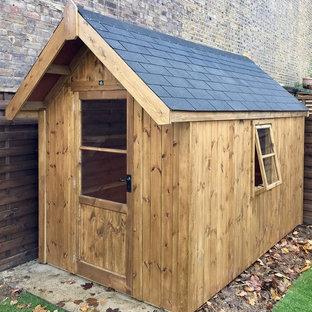Large scandinavian detached garden shed in London.
