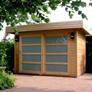 ウィルトシャーの小さい独立型コンテンポラリースタイルのおしゃれなガーデニング小屋の写真