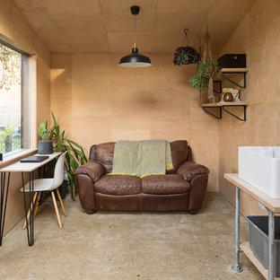 Design ideas for a mid-sized scandinavian studio in London.