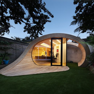 Design ideas for a small contemporary shed and granny flat in London.