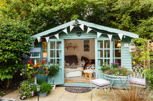 Shabby-chic Style Garden Shed and Building by Jenny Ballantyne Interiors