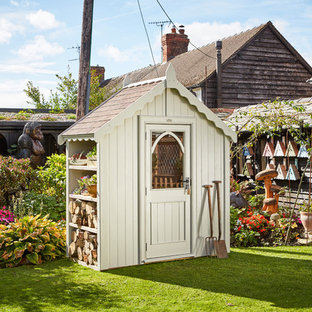 Example of a mid-sized cottage chic detached garden shed design in West Midlands