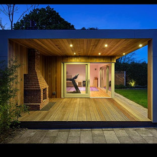 Inspiration for a contemporary shed and granny flat in Dublin.