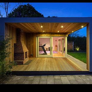 Idées déco pour un abri de jardin contemporain.