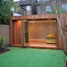Contemporary Garage And Shed by Your garden room