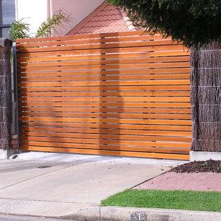 アデレードのコンテンポラリースタイルのおしゃれな前庭 (私道、日向) の写真