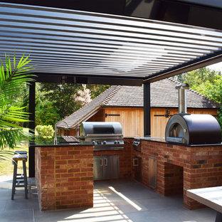 Design ideas for a modern partial sun garden in Kent.