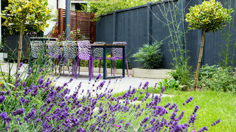 An 'L' shaped garden with a contemporary feel