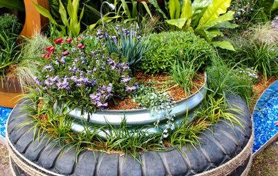 8 idées déco originales pour recycler des pneus