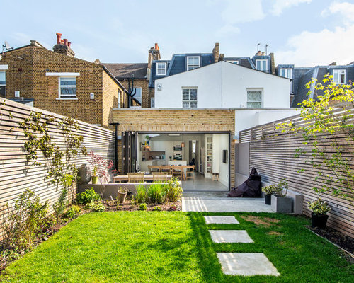 This Is An Example Of A Contemporary Back Garden In London