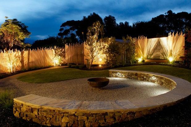 Beach Style Garden by Simpatico Interior Design