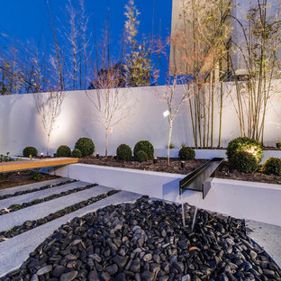 Inspiration For A Contemporary Front Yard Xeriscape In Canberra    Queanbeyan With A Water Feature And