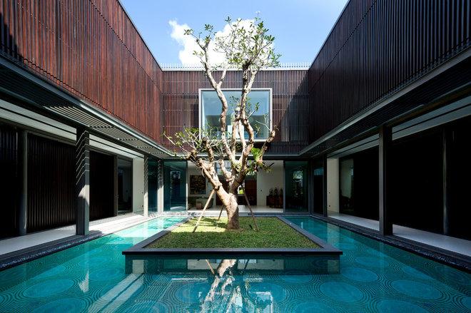 Современный Сад by Wallflower Architecture + Design