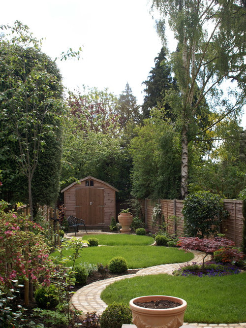 Jardin montagne avec des pav s en brique photos et id es d co de jardins - Jardin de montagne ...