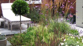 City Courtyard Garden planting