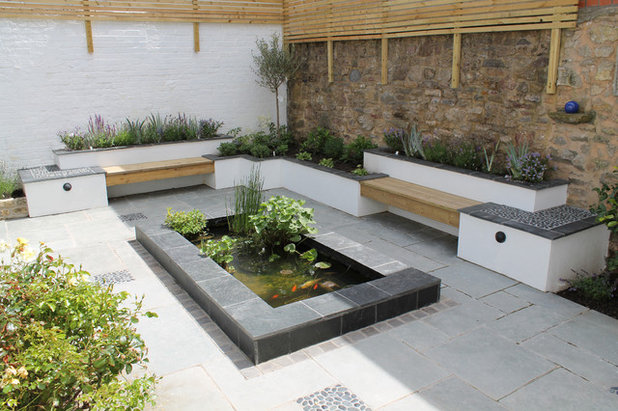 Contemporary Patio by Outerspace Creative Landscaping