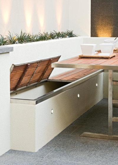 8 soluzioni per usare gli spazi della terrazza come ripostiglio - Ripostiglio per terrazzo ...