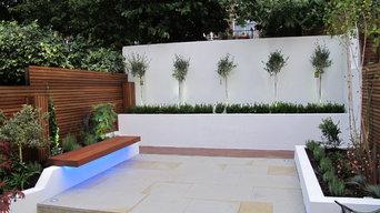 Contemporary garden landscape