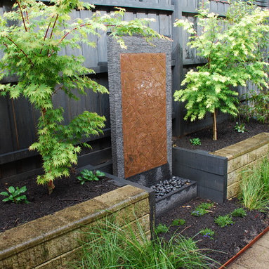 Melbourne Backyard Fire Pit Landscape Design Ideas, Pictures, Remodel and Decor