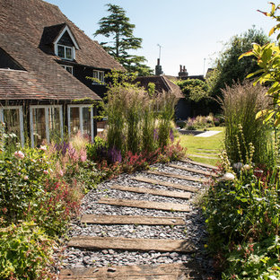 This is an example of a classic garden in Sussex with a garden path.
