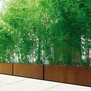 Idée de décoration pour un jardin urbain.