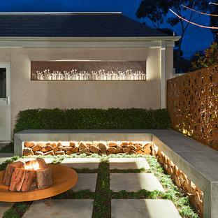 メルボルンのコンテンポラリースタイルのおしゃれな庭の写真