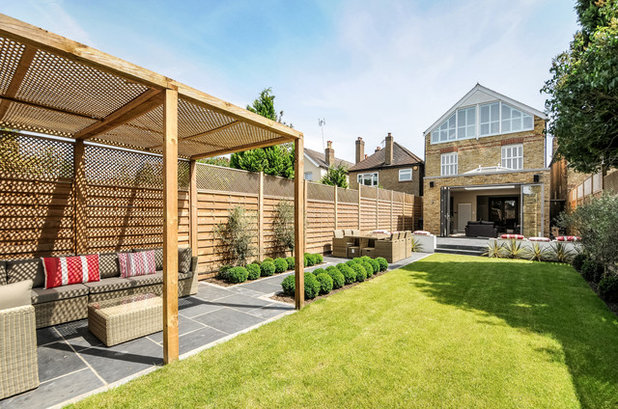 Transitional Garden by AG Interiors