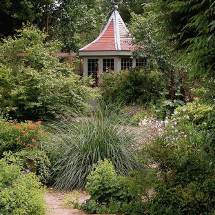 Design ideas for a traditional back garden in London.