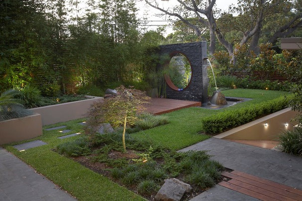 Contemporary Landscape by Dean Herald-Rolling Stone Landscapes