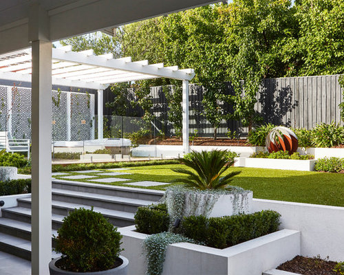 Mid Sized Contemporary Backyard Garden In Melbourne.