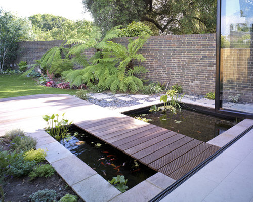 Fish pond houzz for Koi pond builders near me