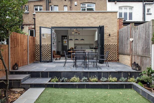 kochen, essen, lesen: eine wohnküche mit bücherwand in london, Hause deko