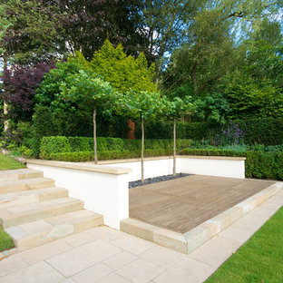 Inspiration for a contemporary garden in Manchester with decking.