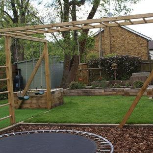 Design ideas for a medium sized rustic back partial sun garden in Hertfordshire.